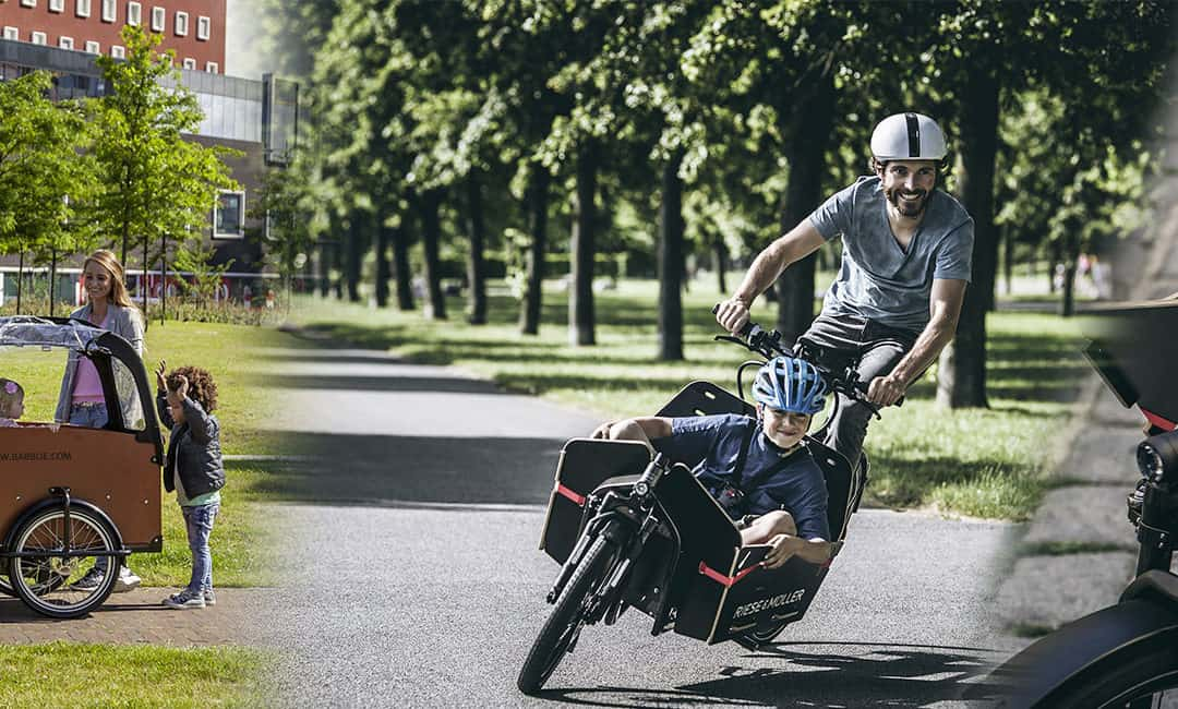 Pendant les grèves, une solution : le vélo cargo