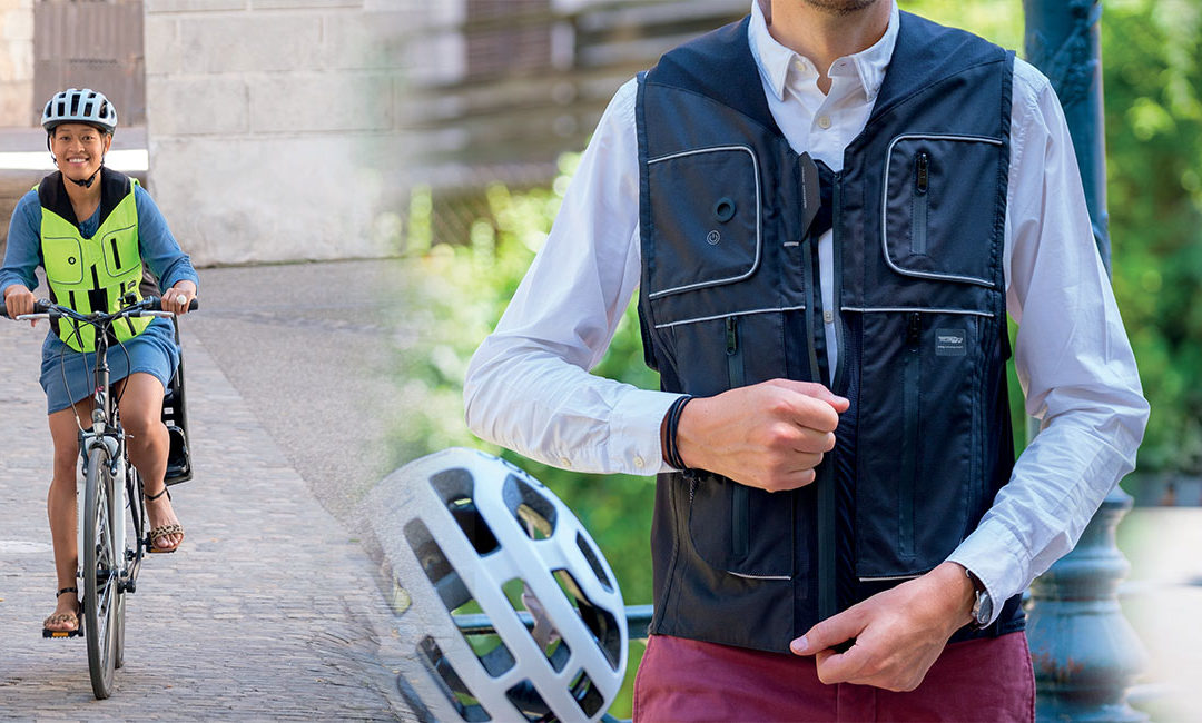B'Safe : un airbag cycliste made in France